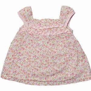 Wonder Kids little girls floral ruffle front top